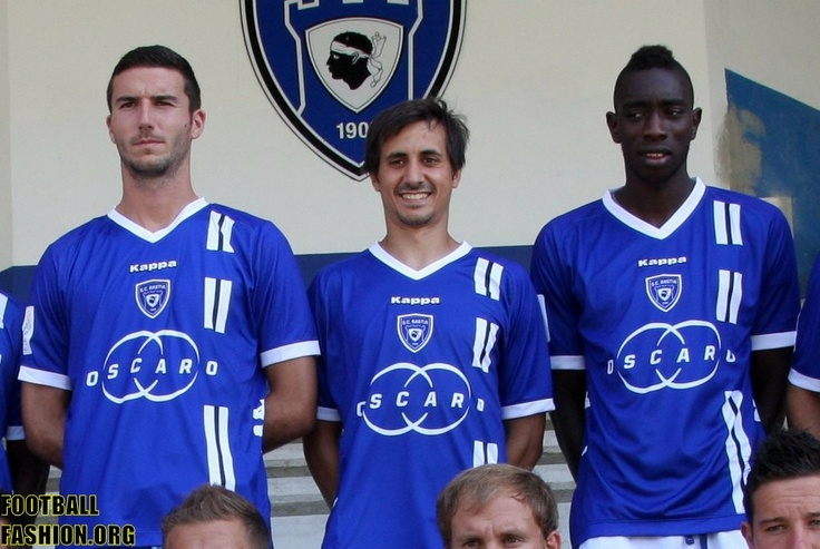 SC Bastia 2012/13 Kappa Home, Away and Third Kits