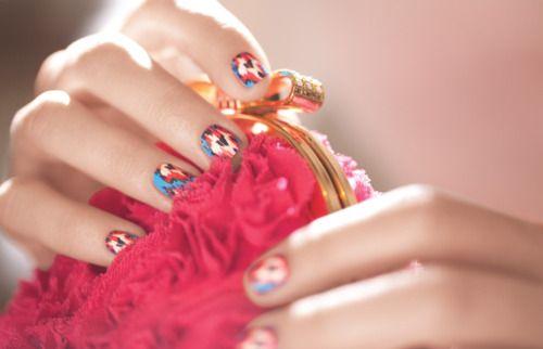 .Nails Art3, Ikat Nailsdrool, Nails Fun, Nails Ideas, Diy Beautiful, Nails Polish, Nails Decals, Prints Nails, Heart Fashion