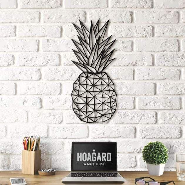 Shop Hoagard Co For All The Best Pineapple Wall Art Enjoy Free Shipping This Metal Hawaiian Trop Geometric Wall Art Pineapple Wall Decor Pineapple Wall Art