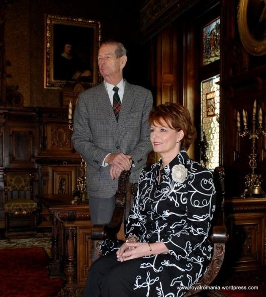 HRH Crown Princess Margareta w. her father HM King Michael