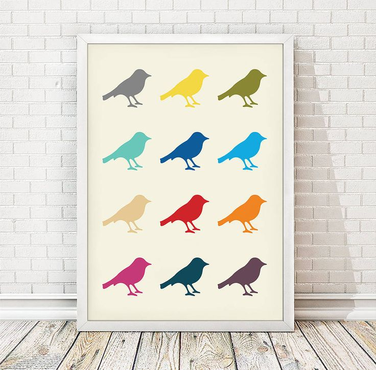 colourful bird print by over & over | notonthehighstreet.com