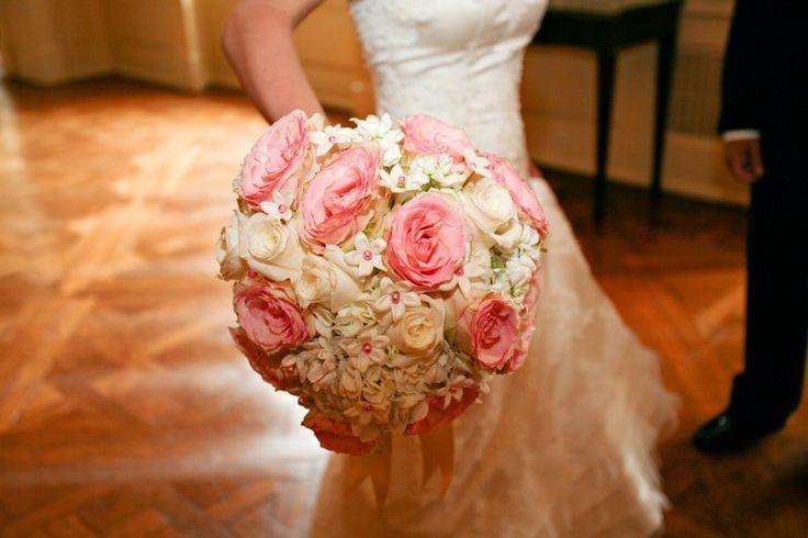 bridal hair flowers stephanosis | White Stephanotis pink roses Bridal bouquet.jpg :: Stephanotis Bridal ...