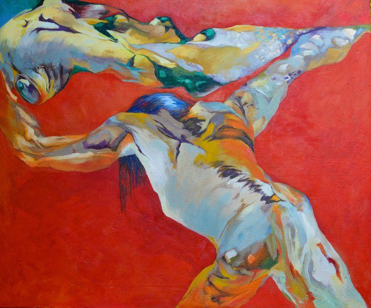 """""""Dragons fight"""", EM Brækstad, 1000x1200mm, oil /canvas"""