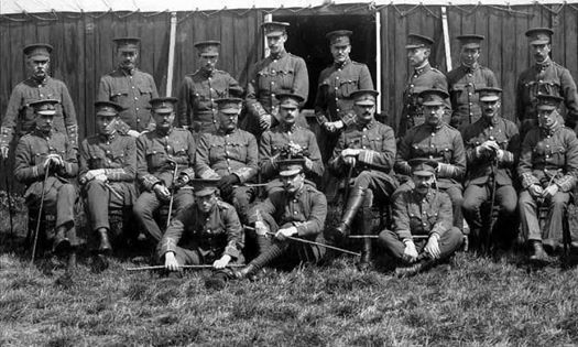 Officers of the 3rd RWF (Special Reserve) at Conway 1909.
