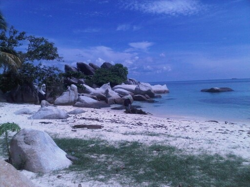 Beach of rocks , Indonesia