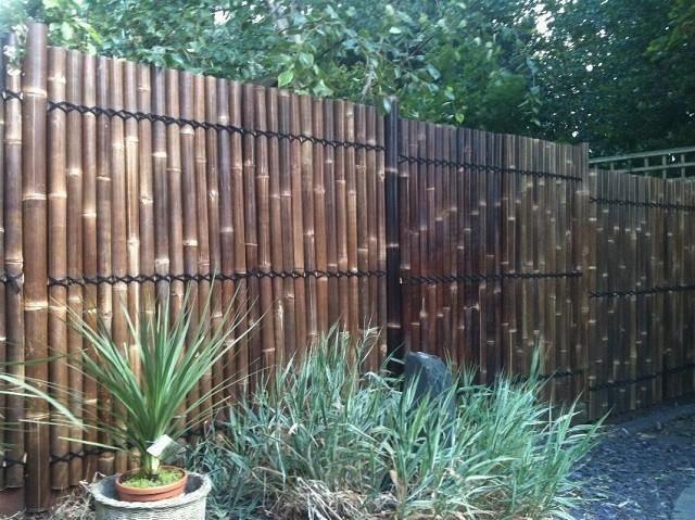 gabionen toom holzzäune mit bambus, die clevere lösung. | gartenterrasse