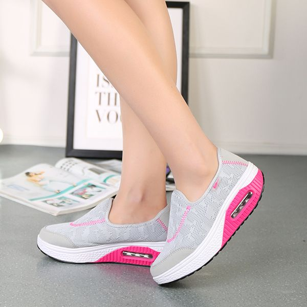 Rocker Sole Shoes Women Slip On Sport Casual Running Canvas Shoes #shoes #athletic