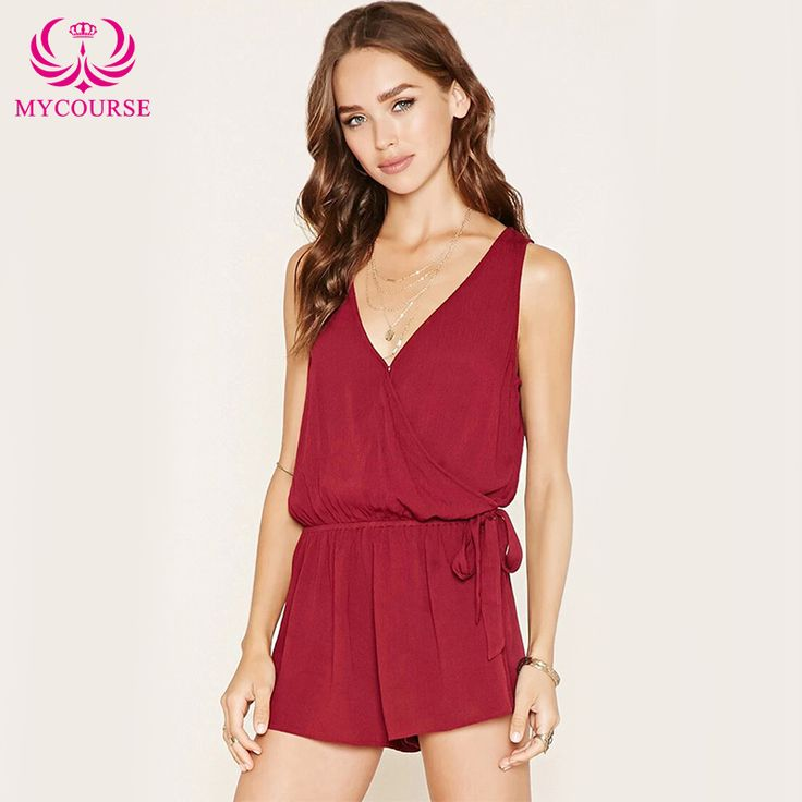 Find More Rompers Information about MYCOURSE Women Sexy Short Playsuits Female Bodysuit Rompers Womens Elegant Jumpsuit V Neck Sleeveless Overalls For Women,High Quality jumpsuit catsuit,China jumpsuit white Suppliers, Cheap jumpsuits wholesale from MYCOURSE on Aliexpress.com