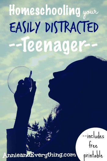 Are your teens easily distracted from their homeschool work? Read to find out…