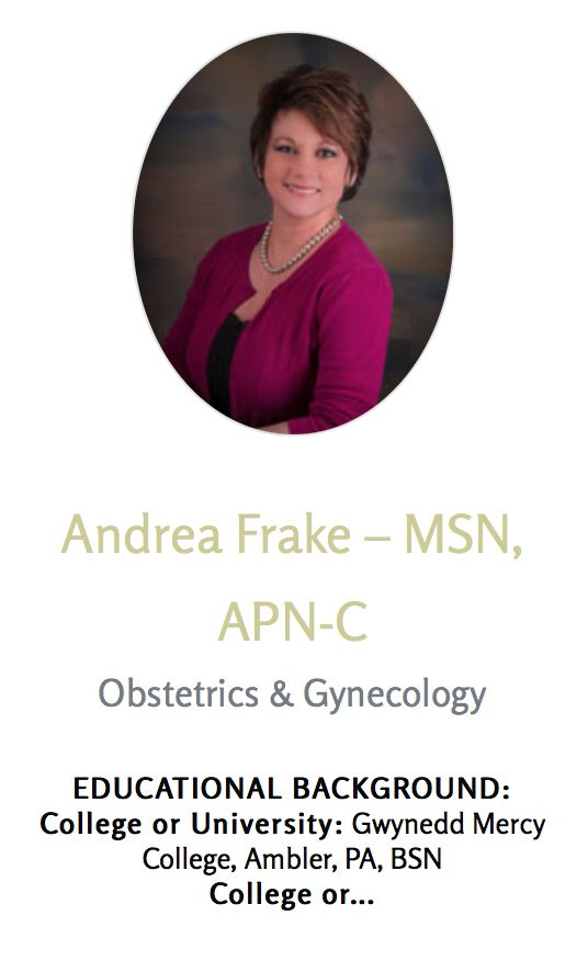 Meet Andrea Frake, one of our talented OB/GYNs. Visit our website to learn more and to schedule your appointment!