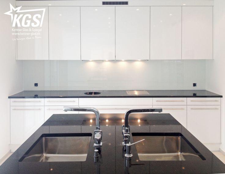 3,5m Glas-Küchenrückwand in Weiss - KGS | Küche | Pinterest ...