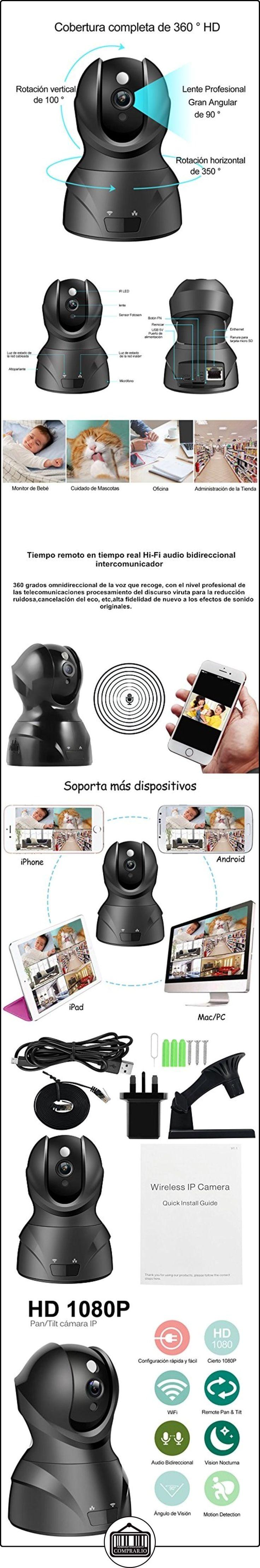 Monitor de bebé 1080P HD Wifi inalámbrico Red de cámaras de vigilancia de seguridad IP con visión nocturna  ✿ Vigilabebés - Seguridad ✿ ▬► Ver oferta: http://comprar.io/goto/B06XHJQQN1