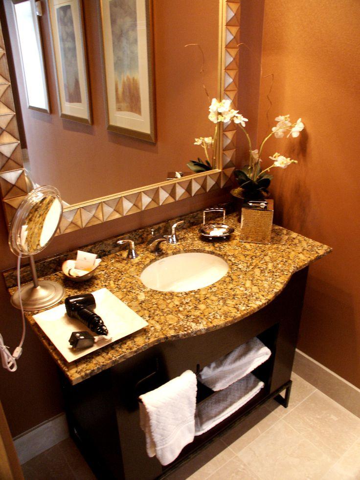 Best Small Bathroom Ideas Images On Pinterest Bath Ideas - Gold bathroom decor for small bathroom ideas