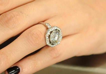 4 Carat Round Diamond With Full Octagon Halo Engagement