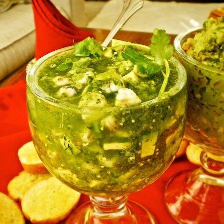 Receta para preparar: Ceviche verde de camarón