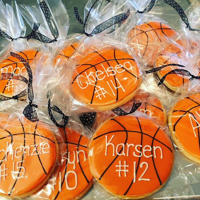 Basketball cookie favors