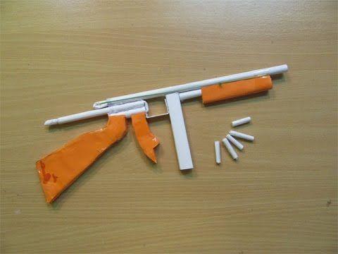 How To Make A Paper Thompson M1a1 Machine Gun That Shoots