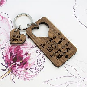 Personalised Teachers Keyring