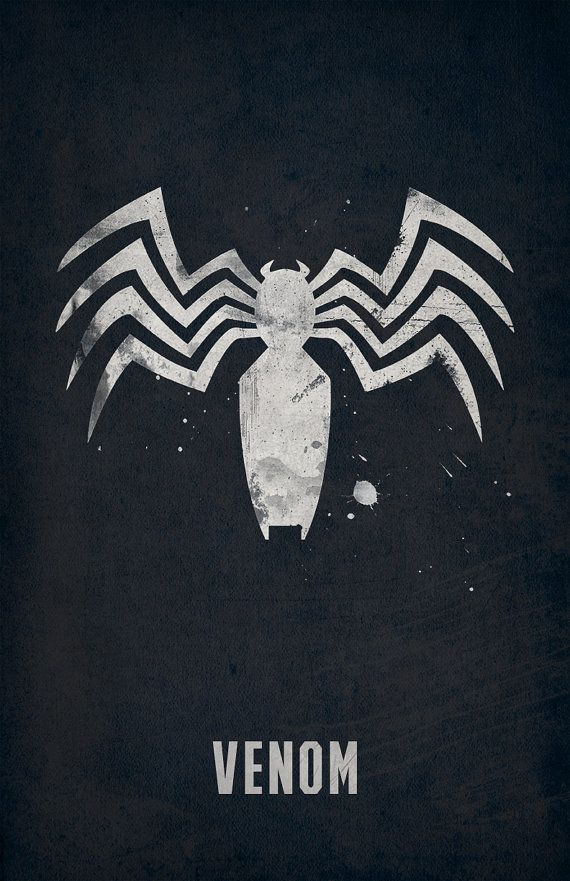 Venom Poster Spiderman Mavel by WestGraphics on Etsy