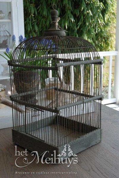 Brocante oude vogelkooi/vogelkooitje 3237/meihuys