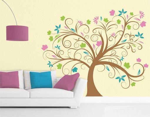 #Wandtattoo #Wald - #Baum No.57 Zauber Baum #Frühling #spring #Sonne #Blumen #flowers #sun