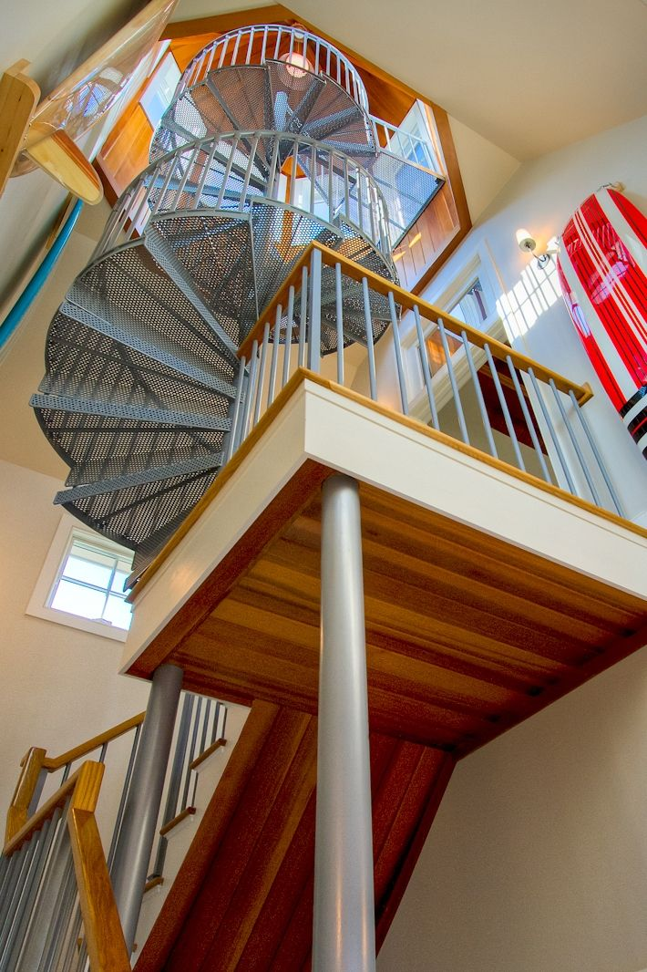 Best Residential Spiral Stair To An Observation Deck Ct With 400 x 300