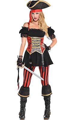 Adult Lassie Lady Pirate Costume