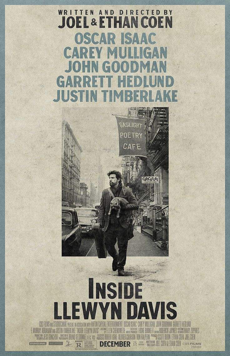 Inside Llewyn Davis. Sound and Picture  were on point. Cinematography = beautiful, pensive, nostalgic. Soundtrack = playful, soulful, lingers like a trail of boot prints on a bed of snow.