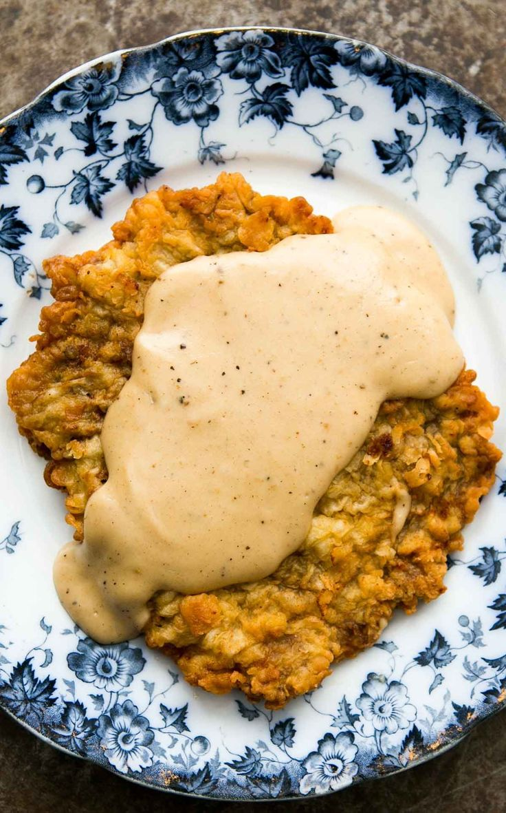Chicken Fried Steak ~ Classic chicken fried steak, steak cutlets, pounded thin, breaded, fried, and served with country gravy. ~ SimplyRecipes.com
