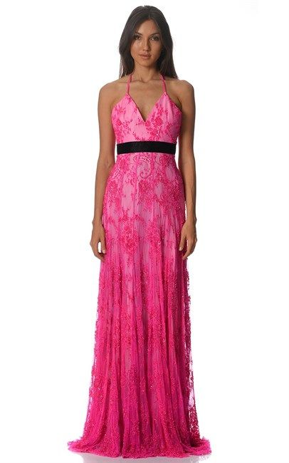 Shocking Pink Suzette Beaded Lace Gown by Australia's premier couturier Alex Perry. We are crushing on this gorgeous gown! Price was $2500 and is now $500.