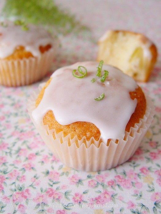 Лаймовые кексы на йогурте