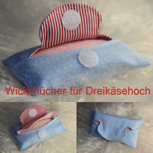 Barbaras Blumenkinder und Puppen Welt: DREIKÄSEHOCH GEHT SCHLAFEN #7 Wickeltücher für die...