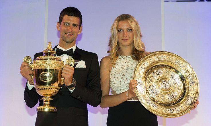 Novak Djokovic and Petra Kvitova attend Wimbledon Champions Dinner