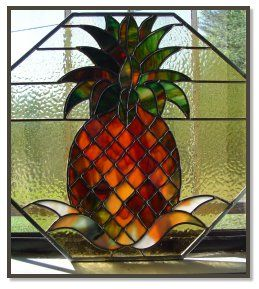 stained glass patterns pineapple | ... stained glass: Room dividers and transoms with beautiful colored glass