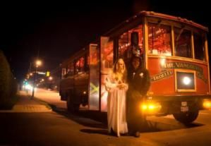 vancouver halloween: Haunted Trolley Tours in Vancouver - Image Courtesy of Vancouver Trolley Company