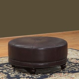 Shop for Lazzaro Leather Cindy Round Leather Ottoman. Get free shipping at Overstock.com - Your Online Furniture Outlet Store! Get 5% in rewards with Club O!