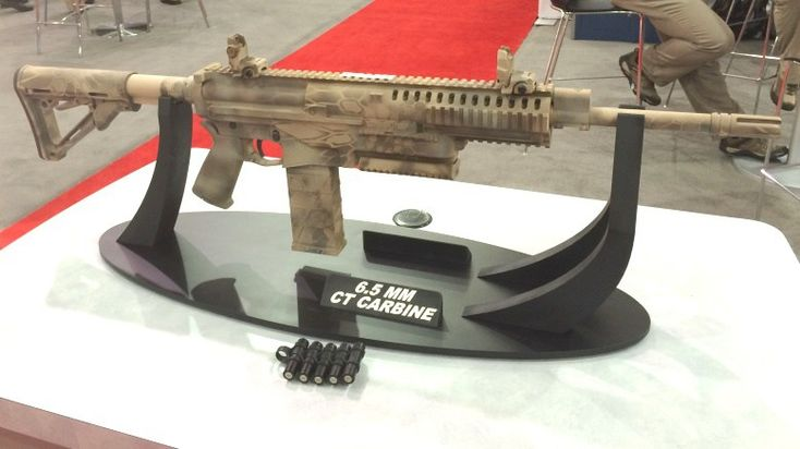 It looks like it could be back to the future for the US Army, if Textron's new carbine design is any indication of what's to come. The company unveiled its latest prototype of a cased, telescoped ammunition-firing rifle at Modern Day Marine 2016 in Quantico, VA, on Tuesday. The rifle, which weighs 8.7 pounds unloaded …   Read More …