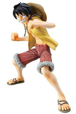 Figura One Piece. Luffy, 17 cms Figura de 17 cms perteneciente al popular manga y anime One Piece, con el personaje principal Luffy.