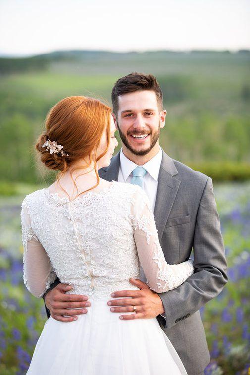 Leianne Photo   Nan + Trent  Mountain Wedding, wildflowers, Utah Mountains, BeUT…
