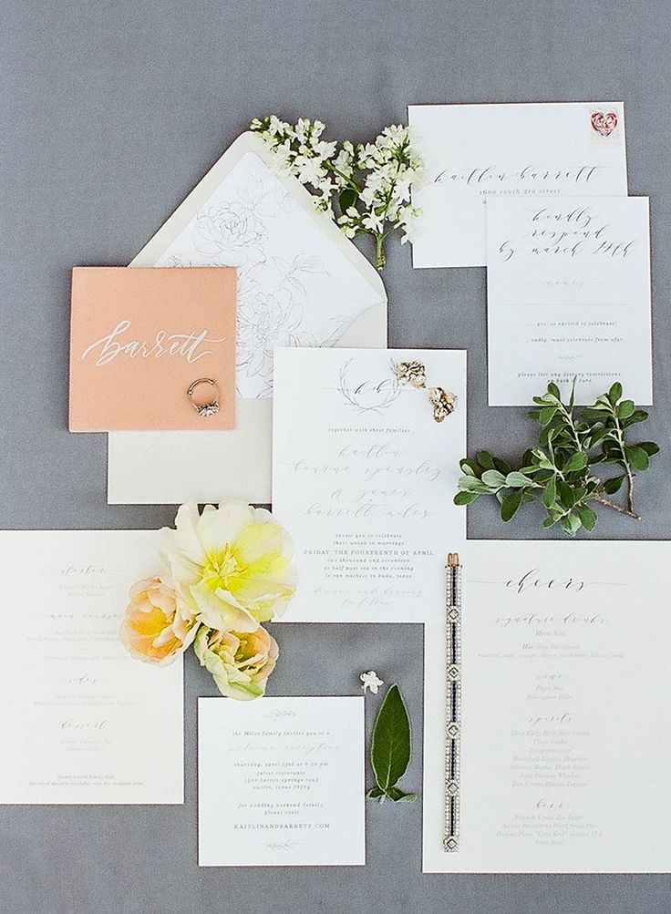These Are The Perfect Invites For This Garden Party Wedding