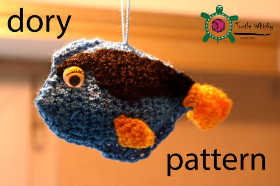 Nemo Amigurumi Tutorial : crochet dory fish pattern by TurtleWhickyCrochet on Etsy ...