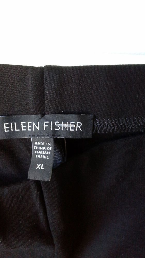 EILEEN FISHER BLACK STRAIGHT LEG PANTS SIZE XL,NEW Without Tag #EileenFisher #CasualPants