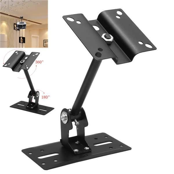 15kg Speaker Ceiling / Wall Mount Brackets Holder for Home Office Speaker Theater Cinema  	   	Description:  	   	The speaker bracket's tilt angle can be quickly and easily adjusted to ensure an optimal viewing experience. Its mounting holes guarantee compatibility with almost...