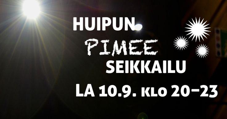Lauantaina 10.9. Seikkailupuisto Huipussa pääsee seikkailemaan pimeässä otsalampun valossa.