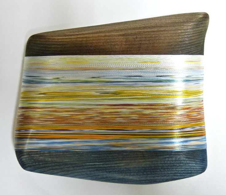 Autumn Flows   Hand-dyed textile piece by Helena Emmans