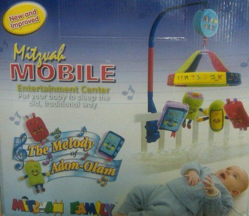 Amazing Mitzvah Mobile Entertainment Center Battery Operated-The Best Jewish Infant Toy! by J Levine/Millennium. $43.98. Great Baby Gift. Inspire the young generation with Judaism!. Put your baby to sleep the old, traditional way.  This whimsical baby mobile features adorable Jewish characters and plays the classic Adon Olam tune. Plush and soft!  New & Improved - Battery Operated