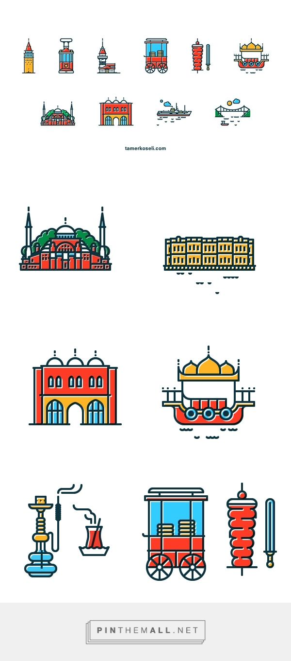 Icons of Istanbul by Tamer KoseliArt and design inspiration from around the world – CreativeRoots... - a grouped images picture - Pin Them All