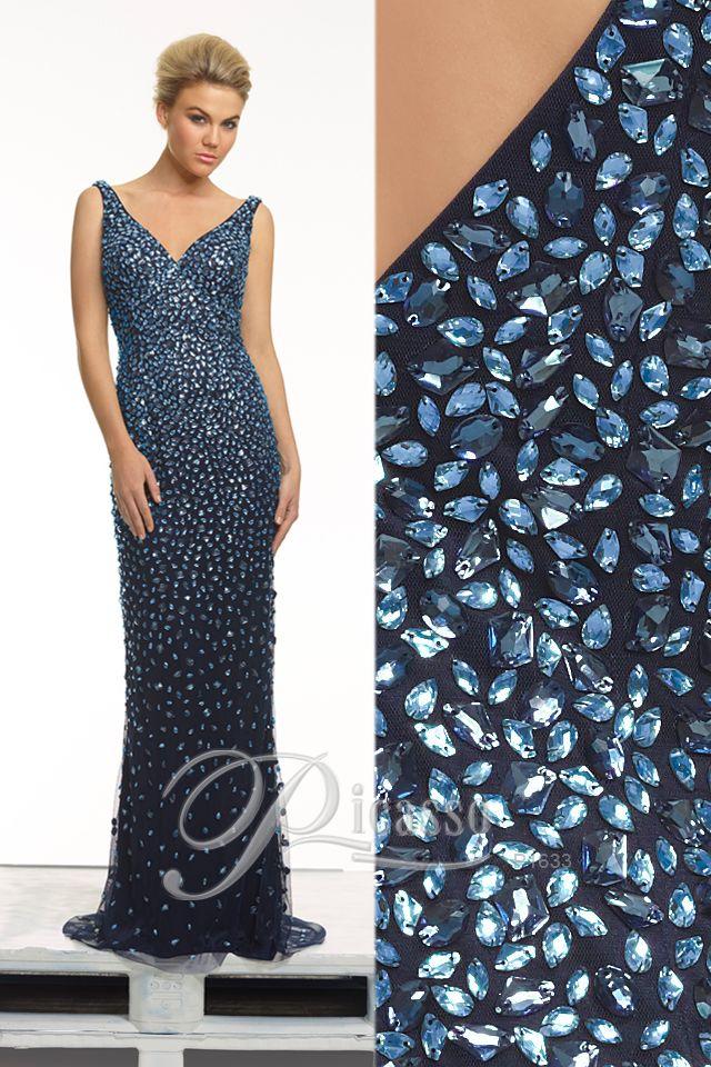 P1633 #navygown #dress #diamentes #weddings #engagements