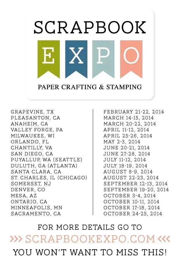 31 Best Scrapbook Expo Love Images On Pinterest Scrapbook Expo