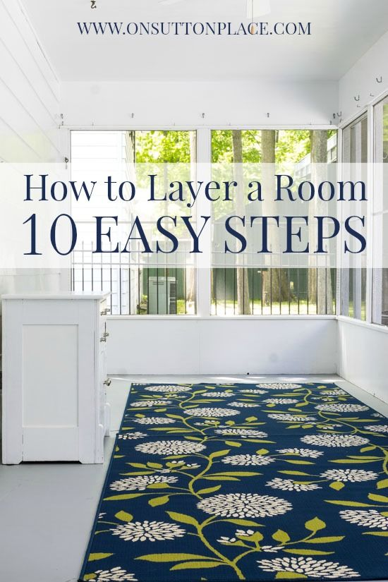 DIY step by step process to turn a blank room into one that's full of your own style and personality.